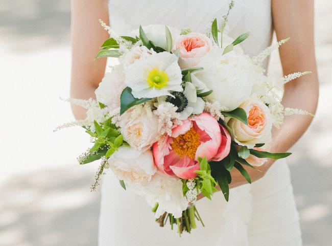 romantic peony bouquet