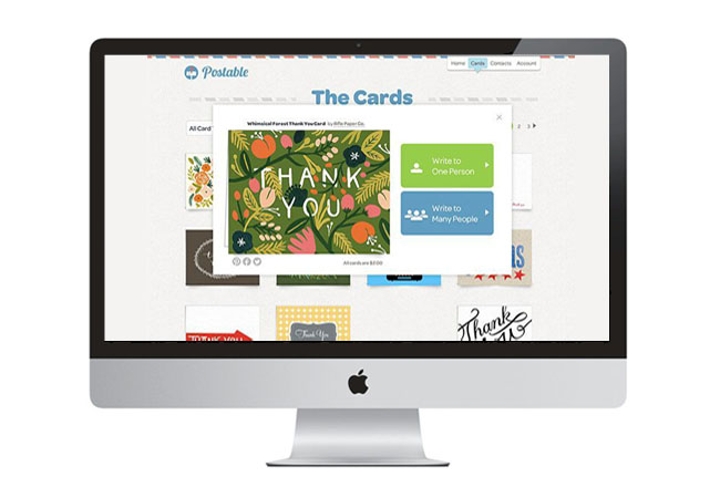 Postable Thank You Cards