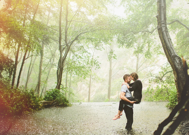 river in the rain engagement
