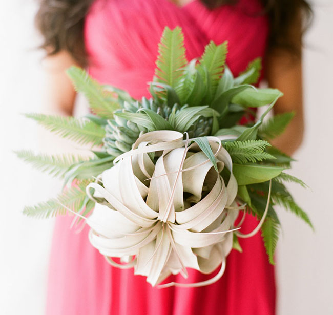 airplant and fern bouquet