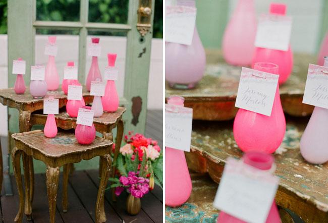 ombre vase escort cards