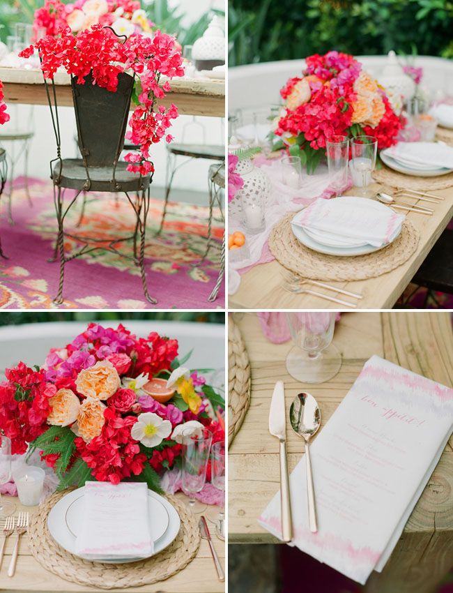 bougainvillea chair decor
