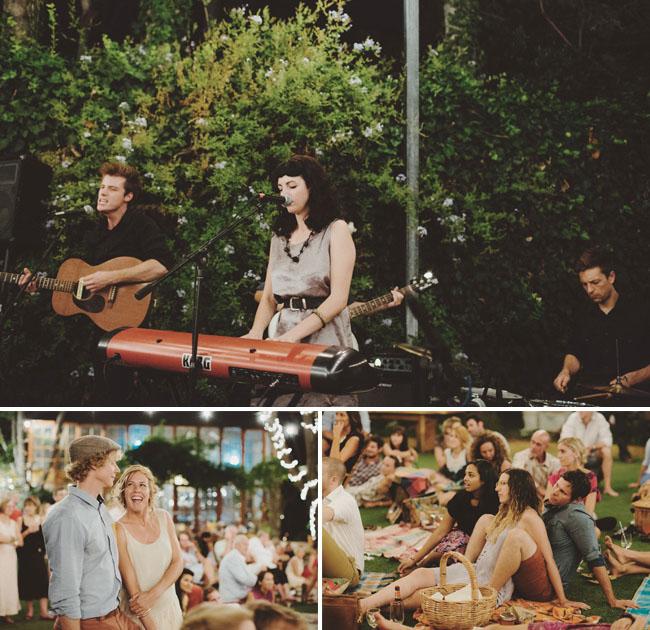 backyard picnic reception