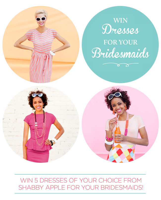Win 5 Dresses from Shabby Apple for your bridesmaids