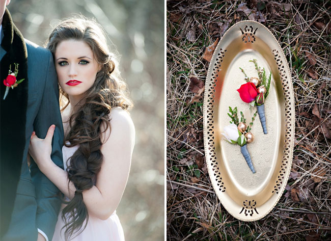 snow white boutonniere