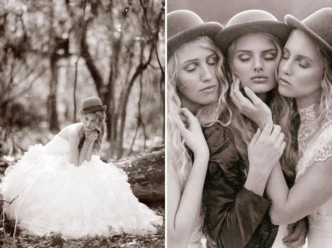 1800s inspired bride