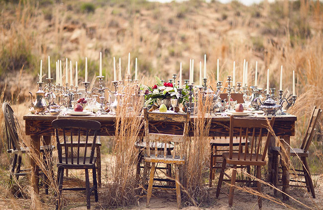 vintage romantic tablescape