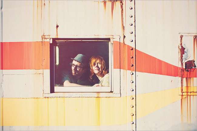 vintage train engagement