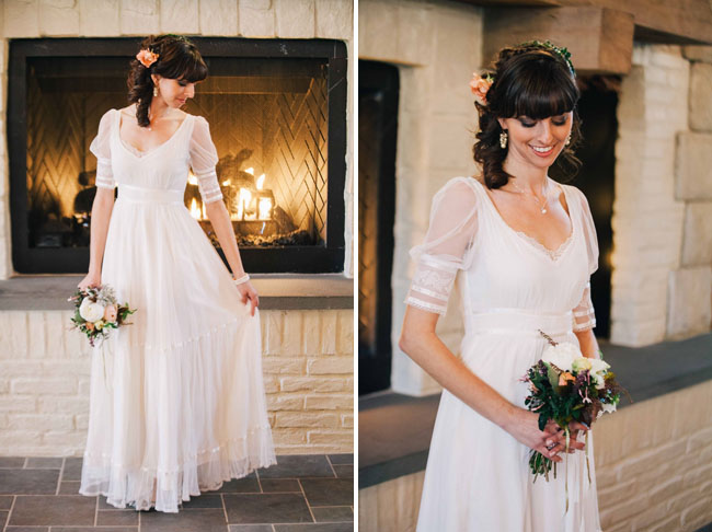 winter vineyard bride