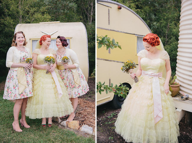 Simple Wedding Dresses Aus: Vintage-Inspired Australian Wedding With A Yellow Dress