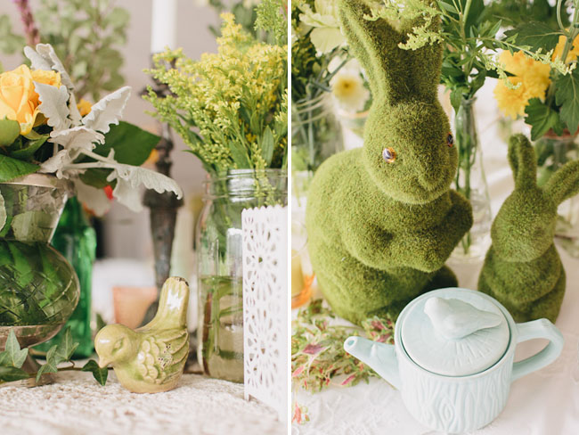 bunny table decor
