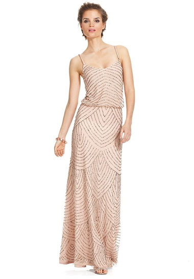 f88b5cc9ef7d Spaghetti-Strap Beaded Blouson Gown. Adrianna Papell s ...