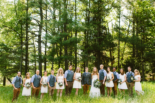 camp wedding party