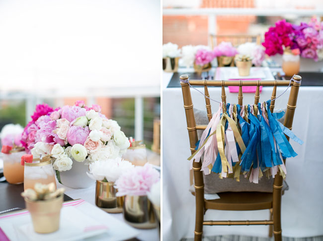 tissue tassel chair decor