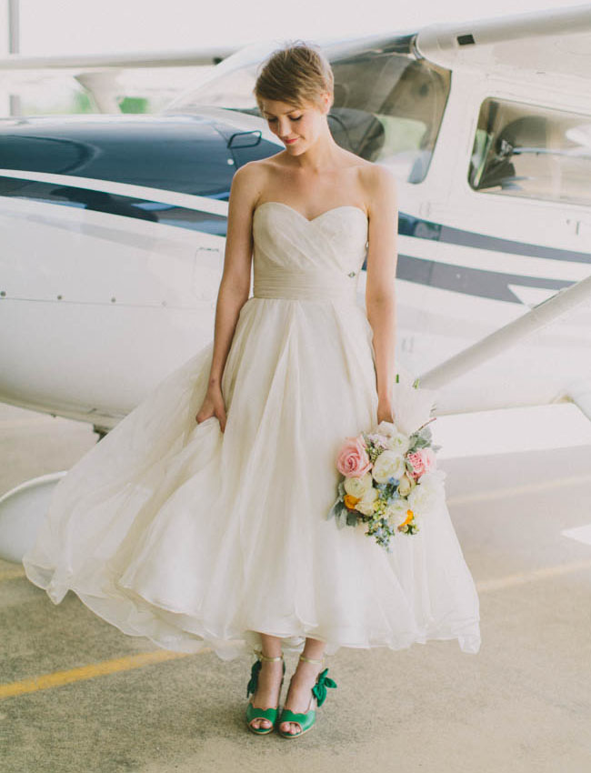 airplane hanger bride