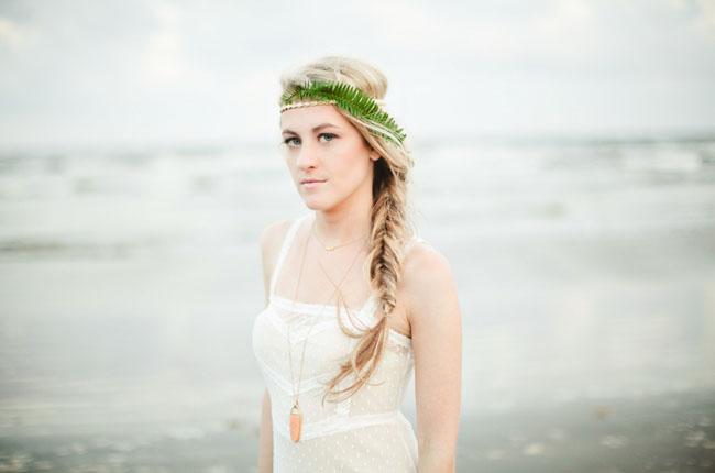 bohemian beach bride