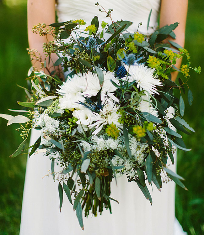 boy scout camp wedding bouquet