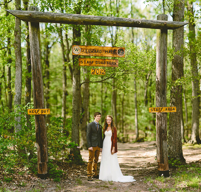 Scout camp wedding