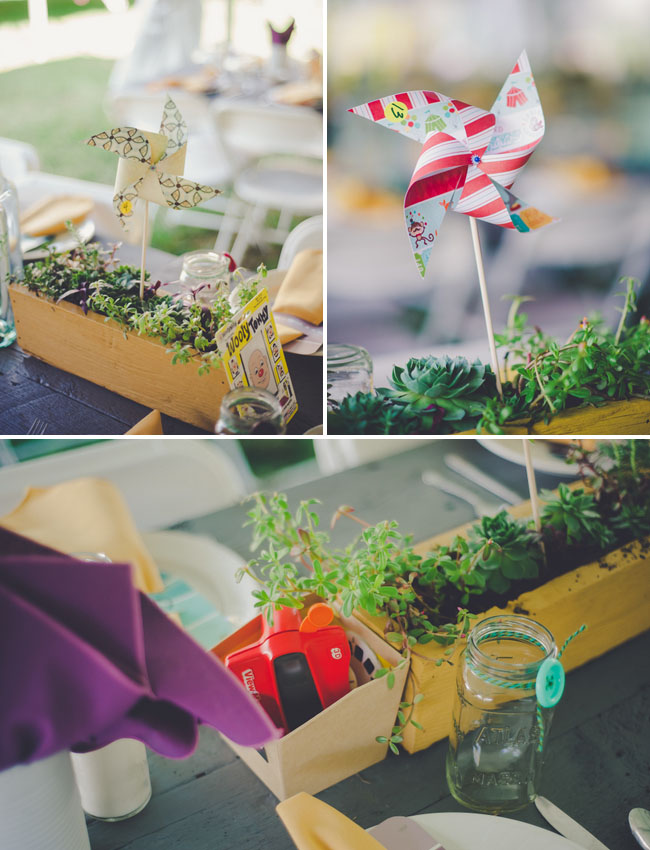 pinwheel table decor