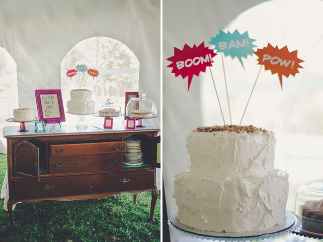 pow! cake decor