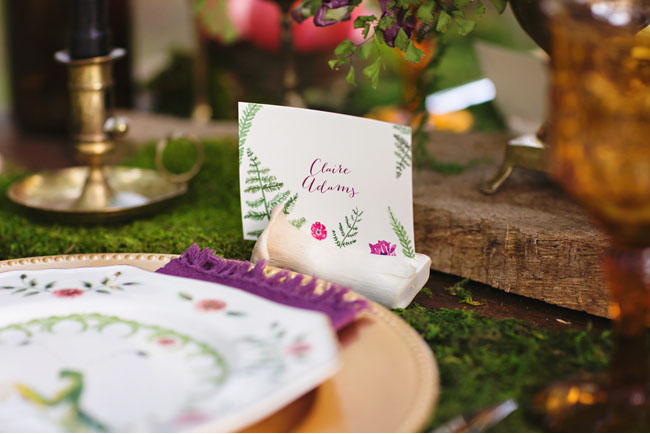 enchanted forest place card