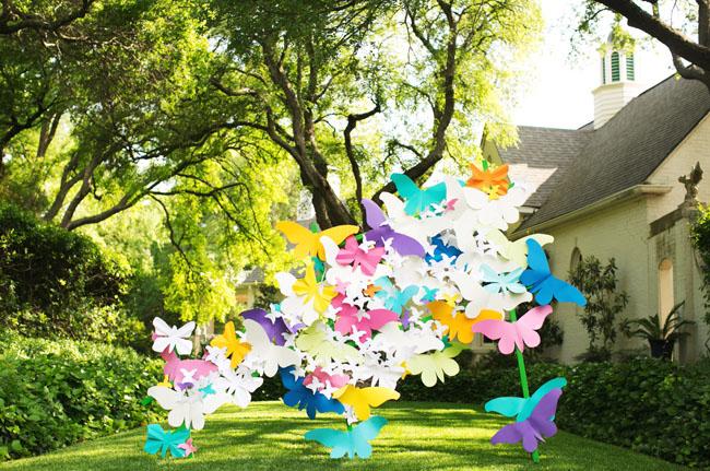 paper butterfly backdrop