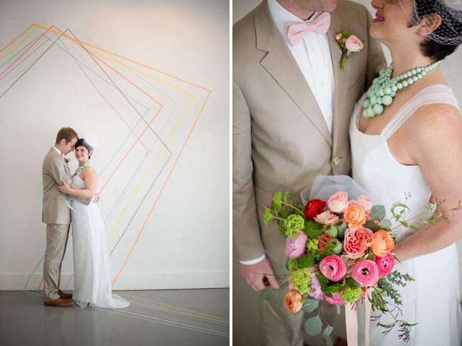 washi tape backdrop