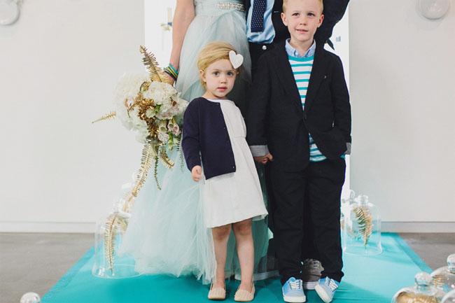 modern blue wedding