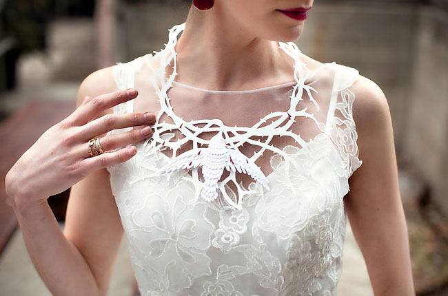 laser cut necklace