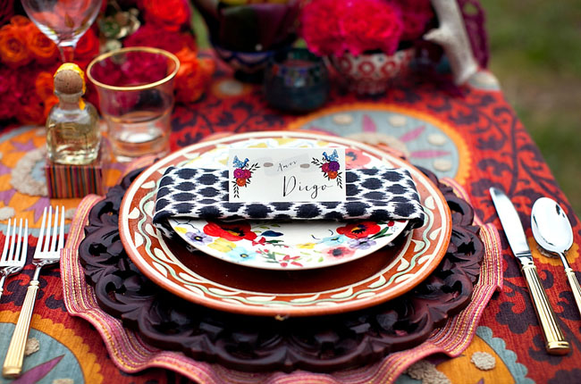 aztec table setting