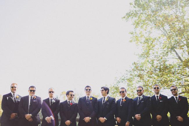 fall groomsmen