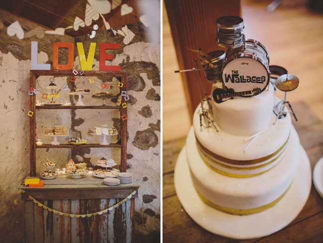 drum set cake topper