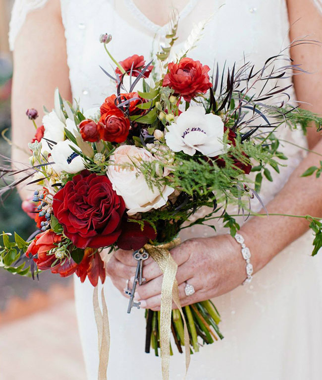 museum wedding bouquet