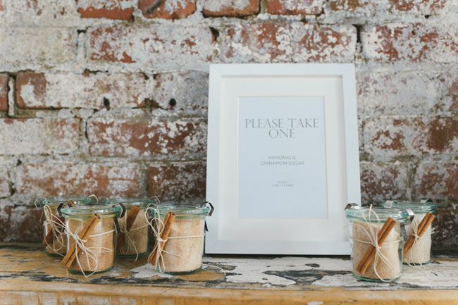neutral wedding favors
