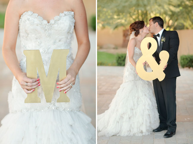 bride and groom initials