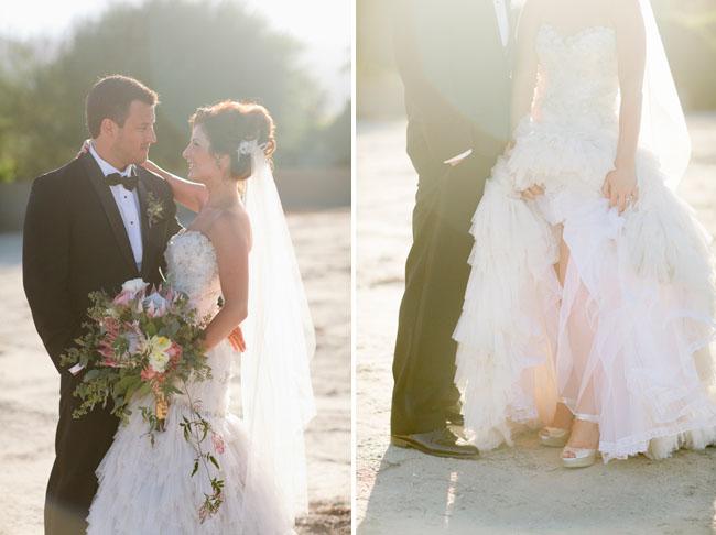 palm springs bride and groom