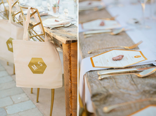 gold favor totes