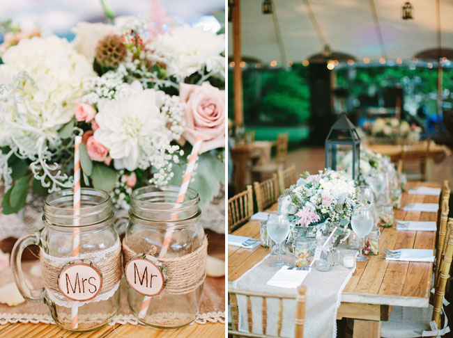 Bon Rustic Centerpieces. Mr And Mrs Glasses