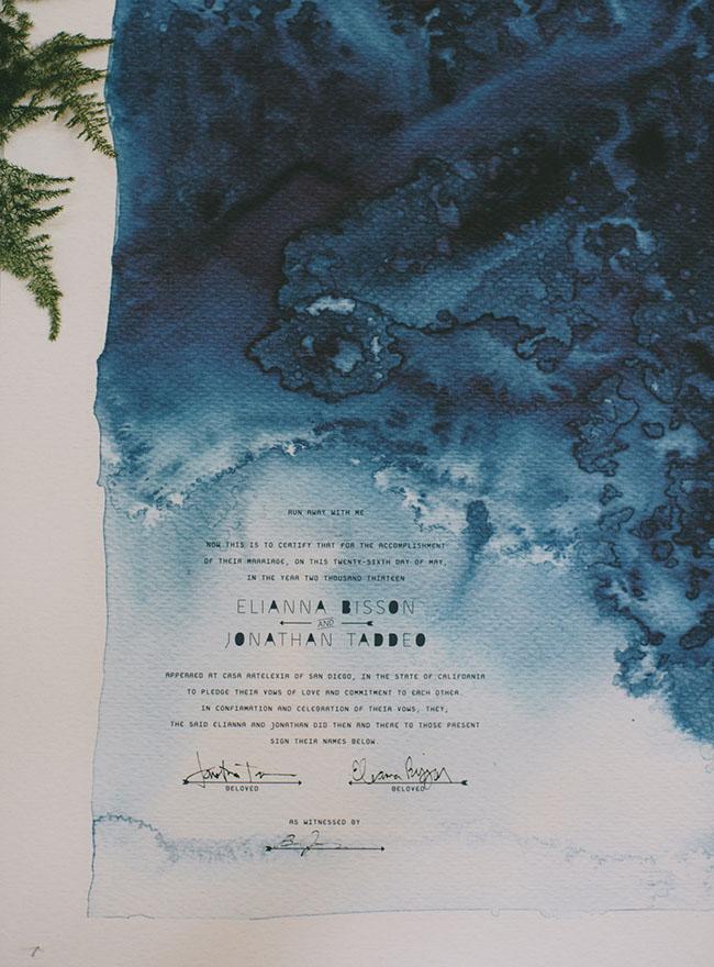 indigo invitation