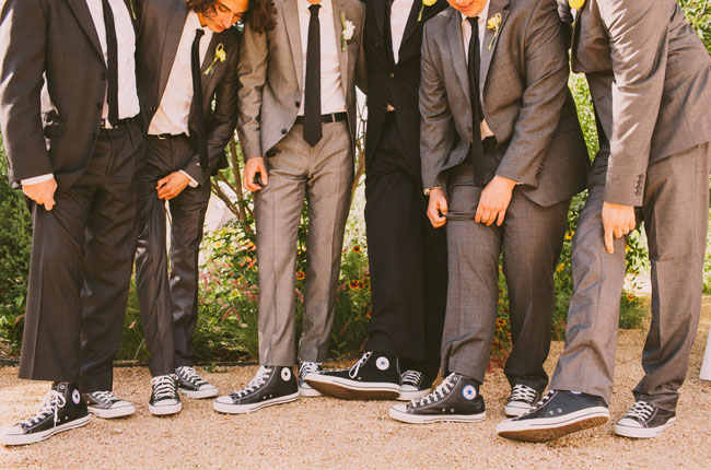 Wedding Party With Converse Shoes | Wedding Ideas