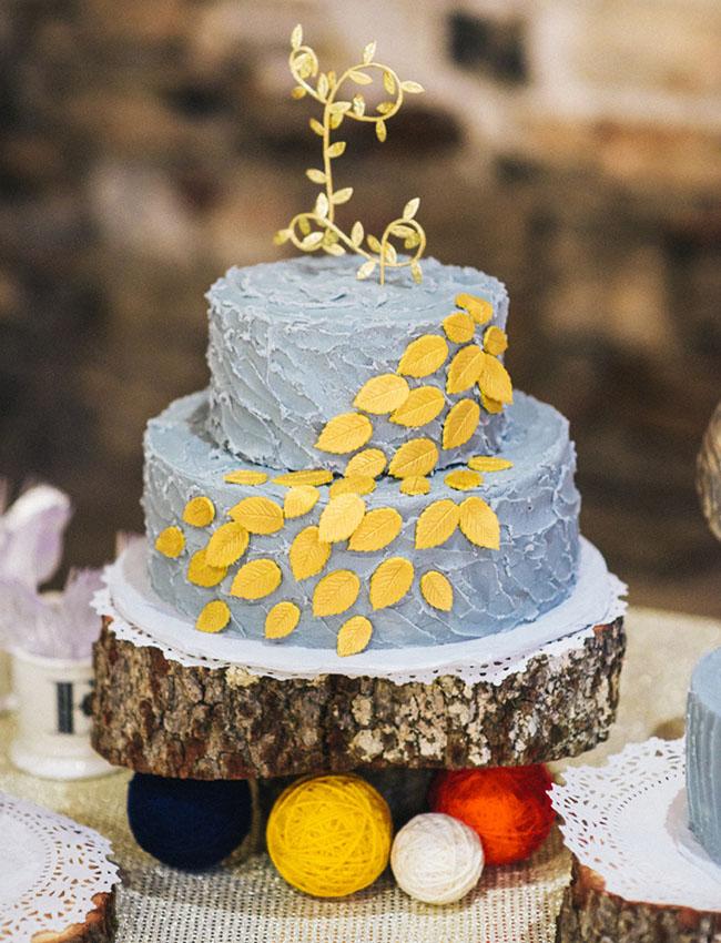 cascading leaf cake