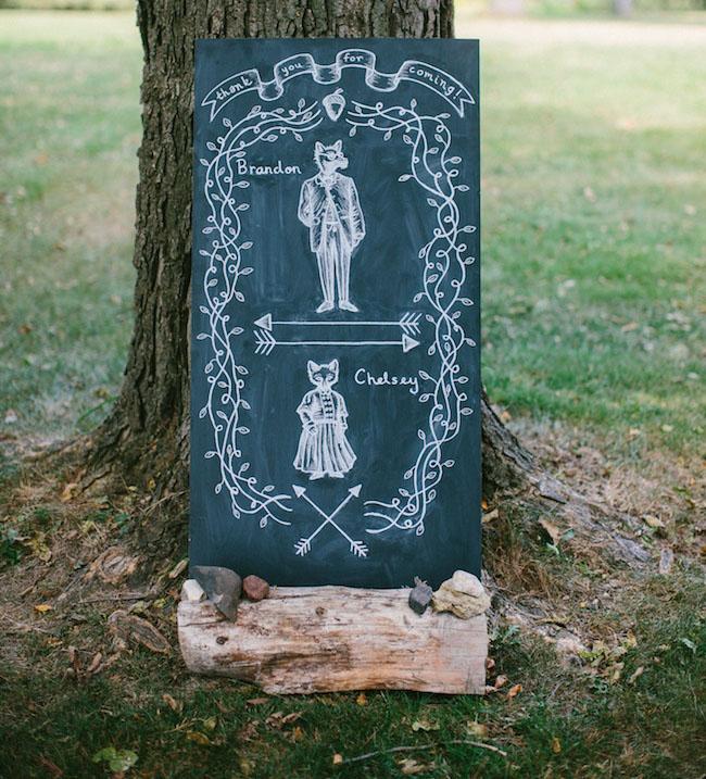 chalkboard illustration
