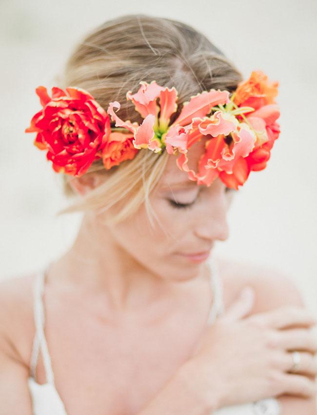 surf inspired flower crown