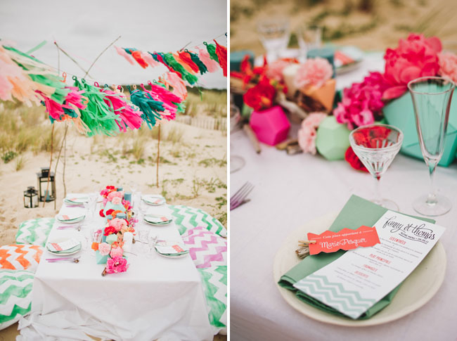 chevron table decor