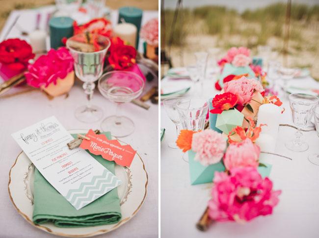paper flower table decor