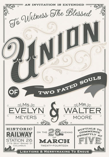 A blessed union wedding invitations green wedding shoes stopboris Gallery