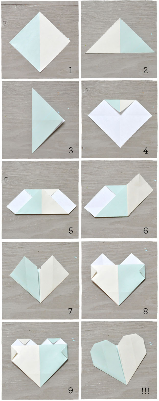 Diy origami heart escort cards for How to make simple things out of paper