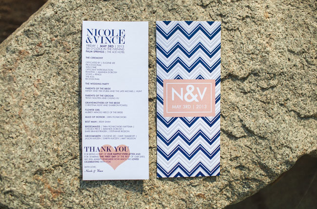 ace wedding chevron invitation