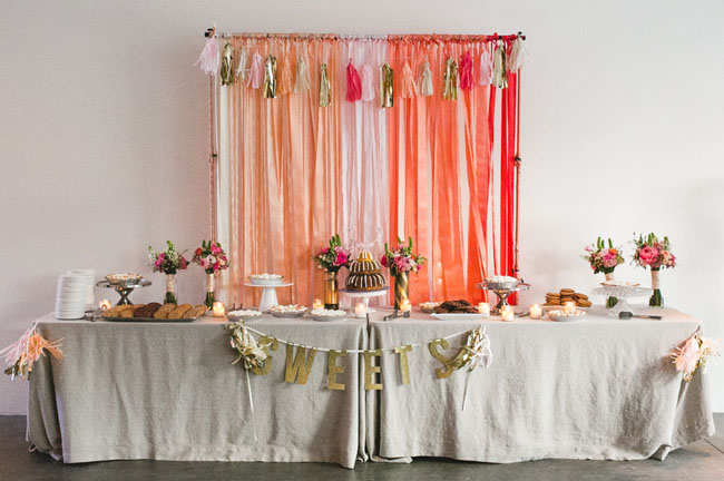 ombre ace wedding dessert bar