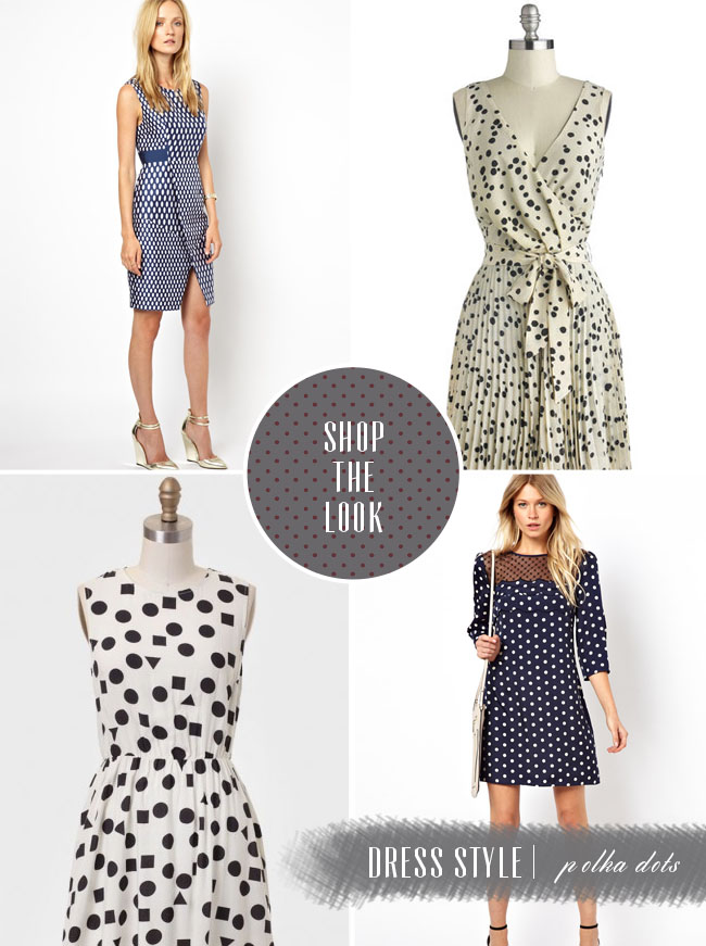 shop the look polka dot dresses